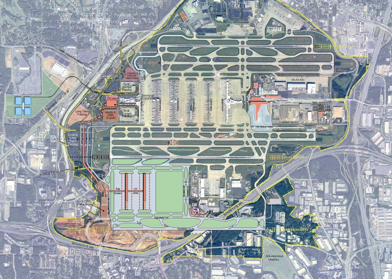 Atl airport map - Atlanta Georgia airport map (United States of America)