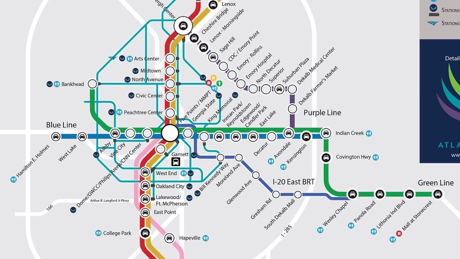 marta train station map. marta station map  marta train station map (united states of america)