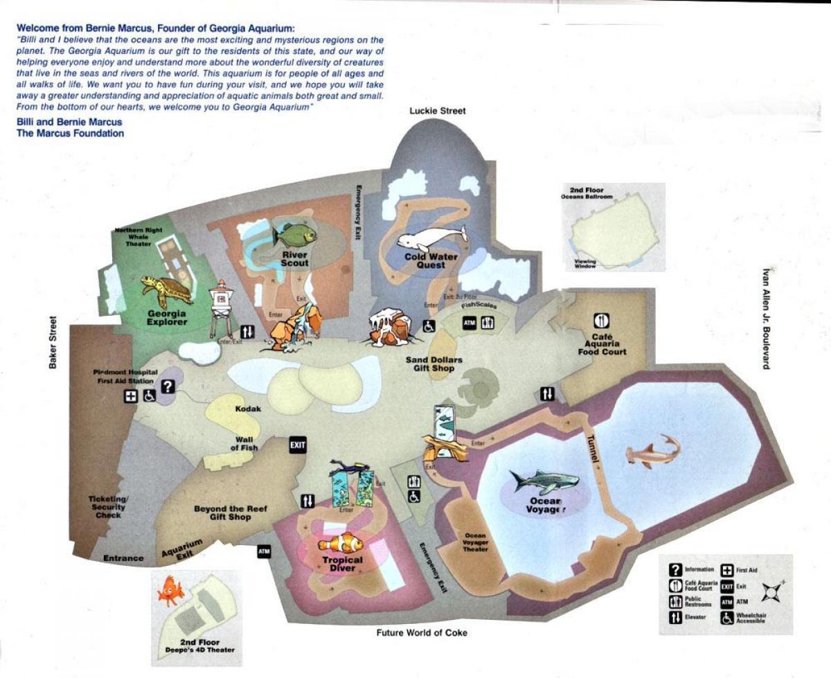 Atlanta Aquarium Map Georgia Aquarium Map United States