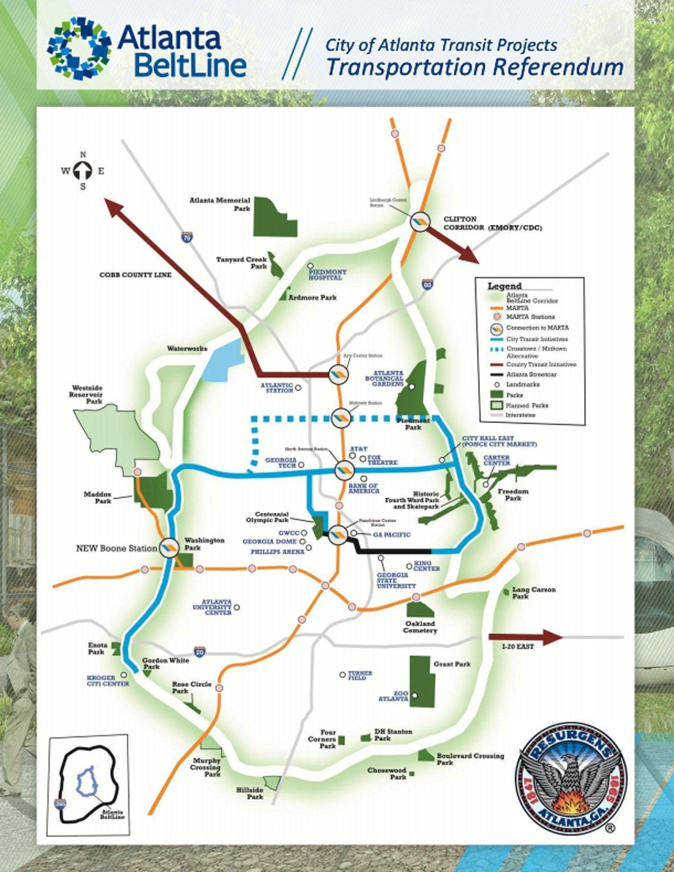 The Beltline Atlanta Map.Atlanta Beltline Map Map Of Atlanta Beltline United States Of