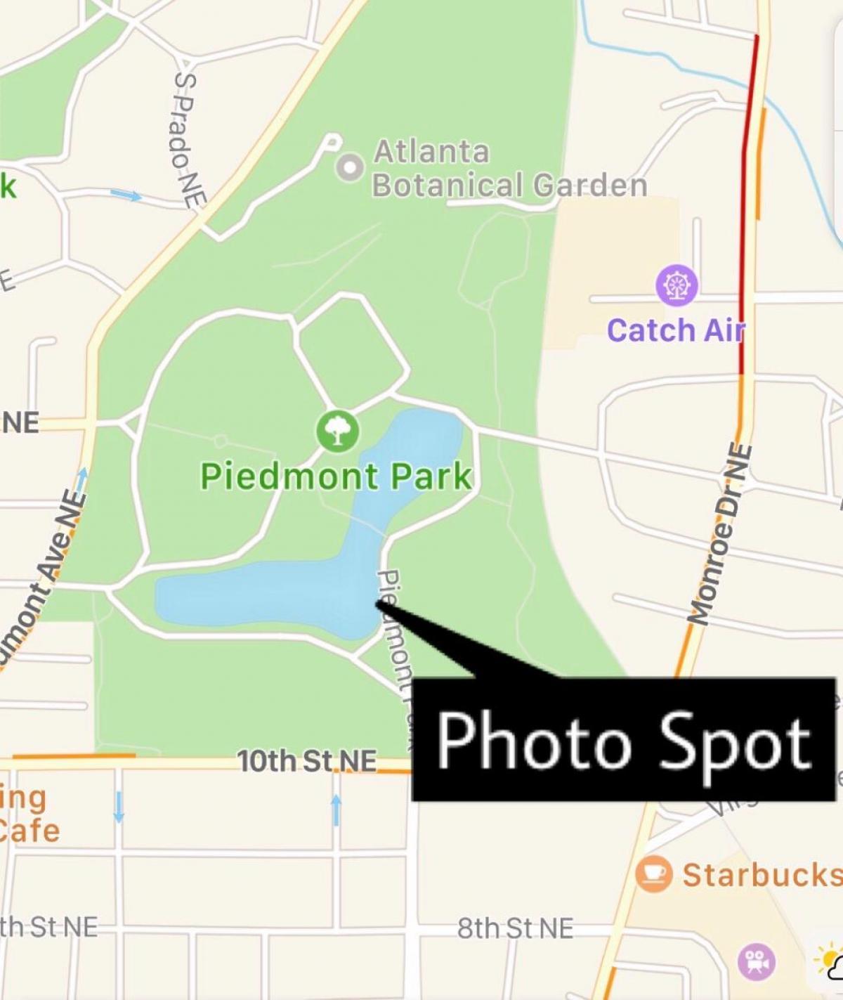 Piedmont Park Map Piedmont park Atlanta map   Piedmont park map (United States of