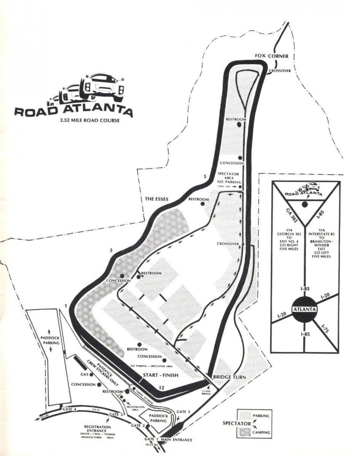 Attractive Map Of Road Atlanta Track