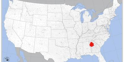 Atlanta Usa Map Atlanta On Us Map United States Of America