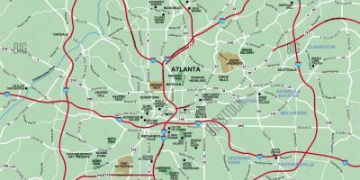 Atlanta map Maps Atlanta United States of America
